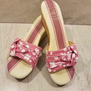 🛒 Sperry Sandals Cork Wedges Size 9.5